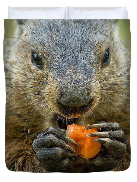 Groundhogs Favorite Snack Duvet Cover