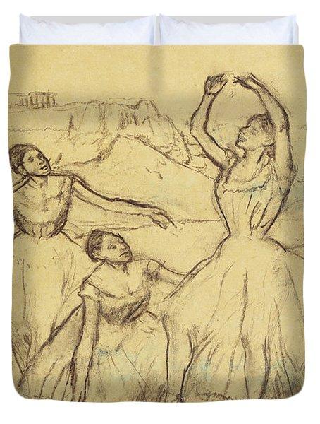 Group Of Dancers Duvet Cover