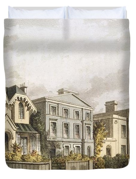 Group Of Villas In Herne Hill Duvet Cover by English School