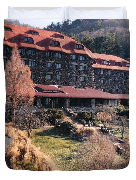 Grove Park Inn In Early Winter Duvet Cover