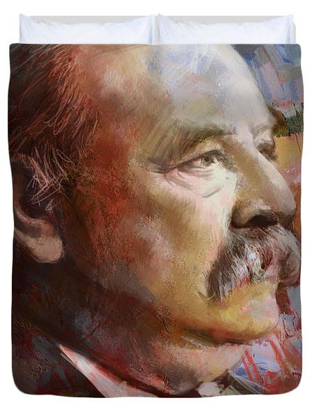 Grover Cleveland Duvet Cover by Corporate Art Task Force