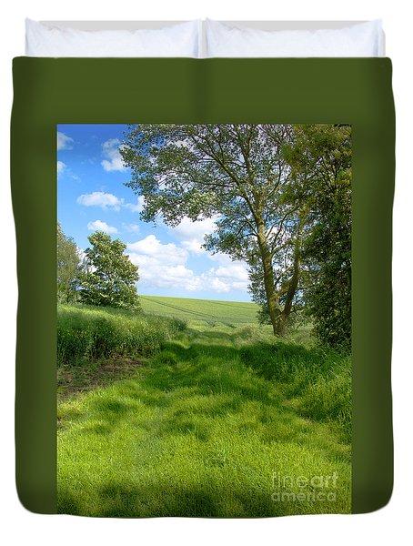 Growing Green Duvet Cover by Ann Horn