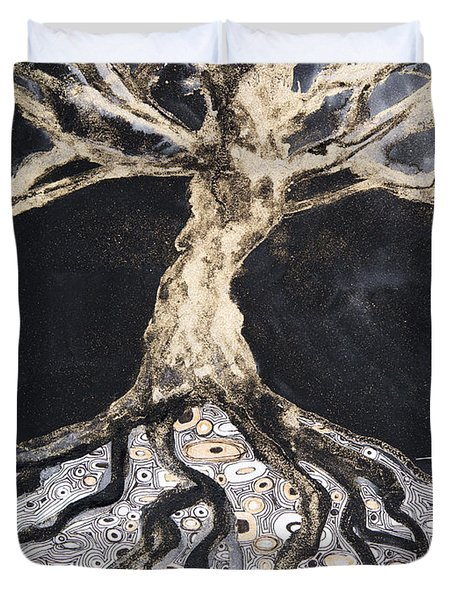 Growing Roots Duvet Cover by Tara Thelen