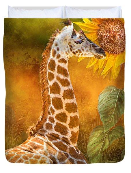 Growing Tall - Giraffe Duvet Cover