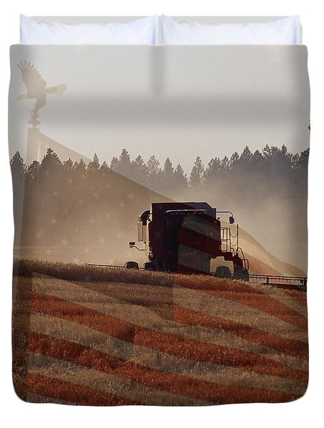 Grown In America Duvet Cover by Sharon Elliott