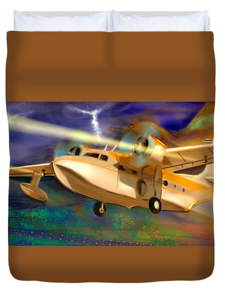 Grumman Goose Duvet Cover by Gerry Robins