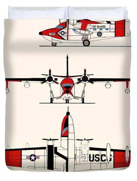 Grumman Hu-16e Albatross Duvet Cover by Mountain Dreams
