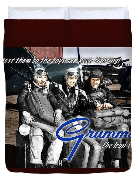 Grumman Test Pilots Duvet Cover