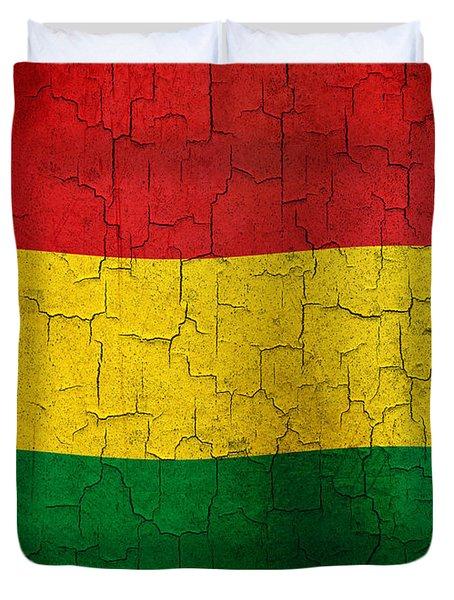Grunge Bolivia Flag Duvet Cover