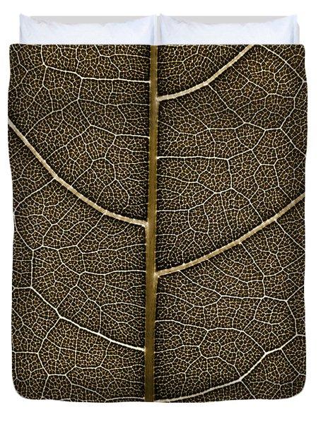 Grunge Leaf Detail Duvet Cover