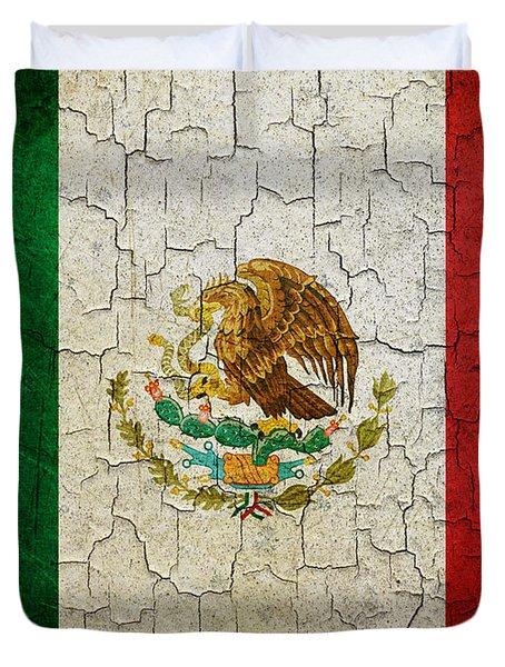 Grunge Mexico Flag Duvet Cover