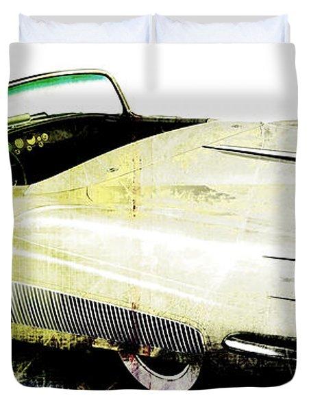 Grunge Retro Car Duvet Cover by David Ridley