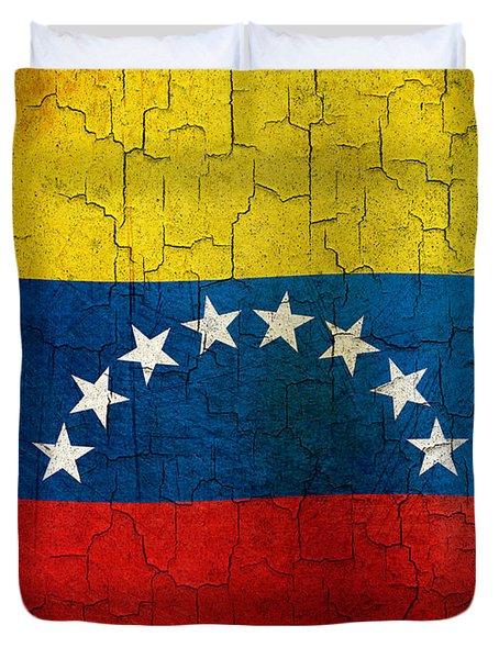 Grunge Venezuela Flag Duvet Cover