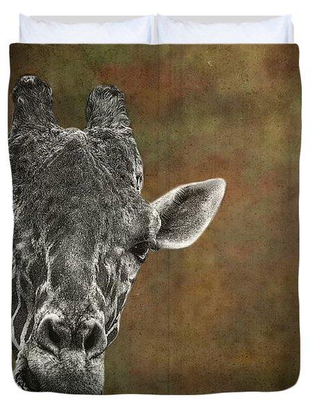 Grungy Giraffe 5654 Brown Duvet Cover