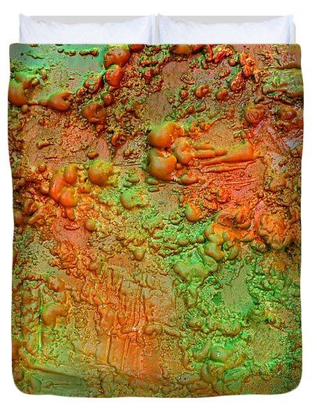 Orange Abstract New Media  Duvet Cover