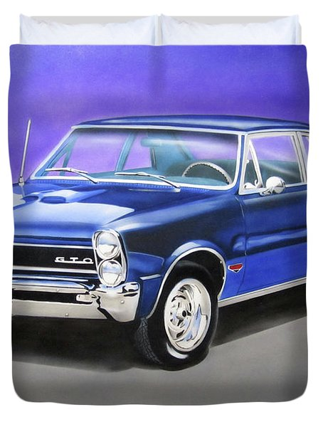 Duvet Cover featuring the painting Gto 1965 by Thomas J Herring