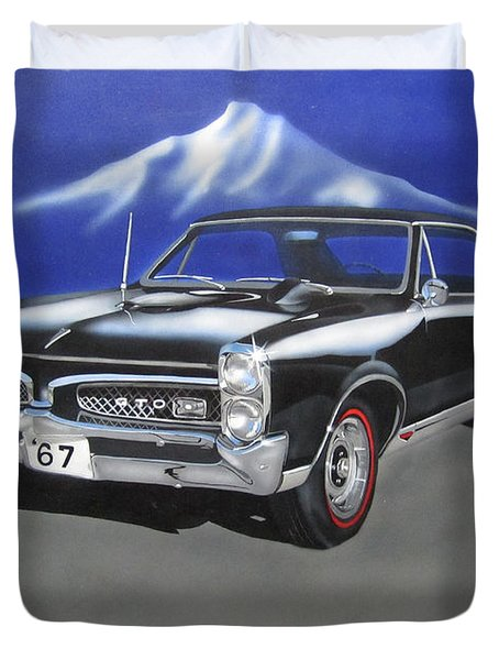 Duvet Cover featuring the painting Gto 1967 by Thomas J Herring