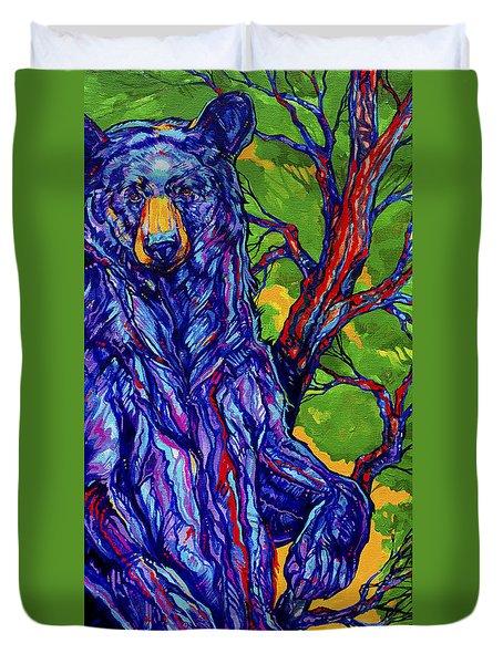 Guardian Bear Duvet Cover by Derrick Higgins