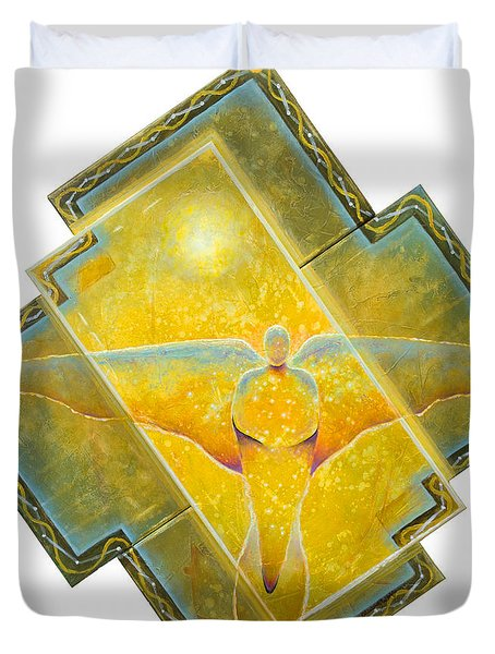 Guardian Of Light Duvet Cover