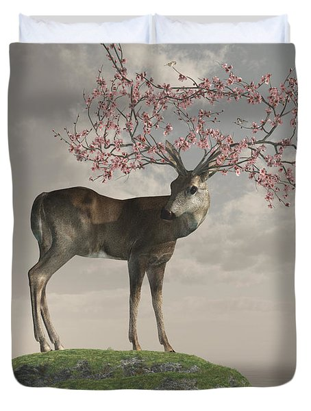 Guardian Of Spring Duvet Cover