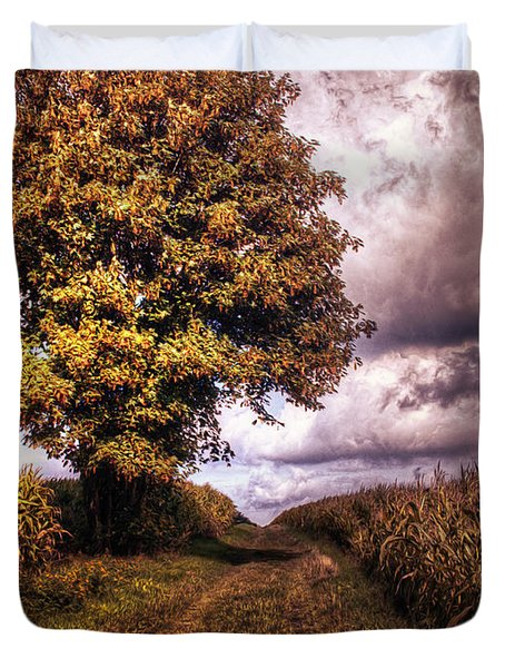 Guardian Of The Field Duvet Cover by Daniel Heine