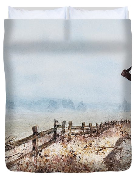 Guardian Of The Fields Duvet Cover