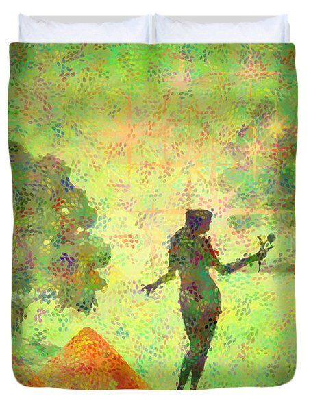 Guardian Of The Oasis Duvet Cover by Joyce Dickens