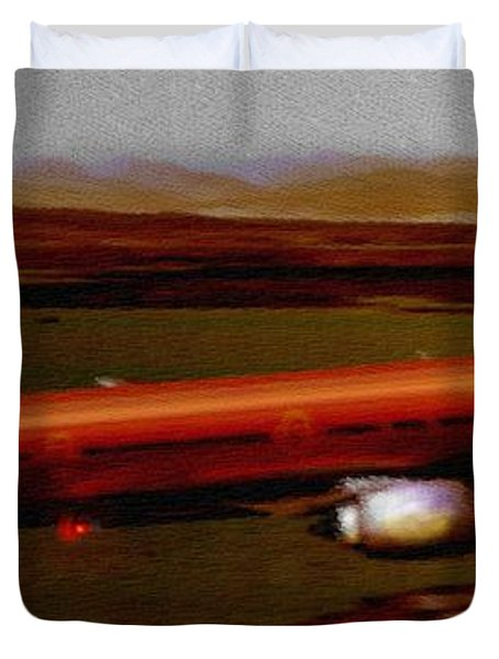 Guardian Over Seattle Duvet Cover by Marcello Cicchini