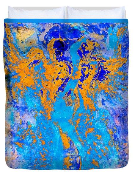 Guardians Of Heaven's Gate Duvet Cover