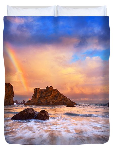 Guardians Of The Sea Duvet Cover by Darren  White