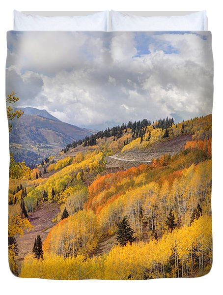Guardsman Pass Aspen - Big Cottonwood Canyon - Utah Duvet Cover
