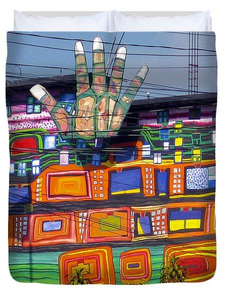 Guatemala Street Art 1 Duvet Cover by Kurt Van Wagner