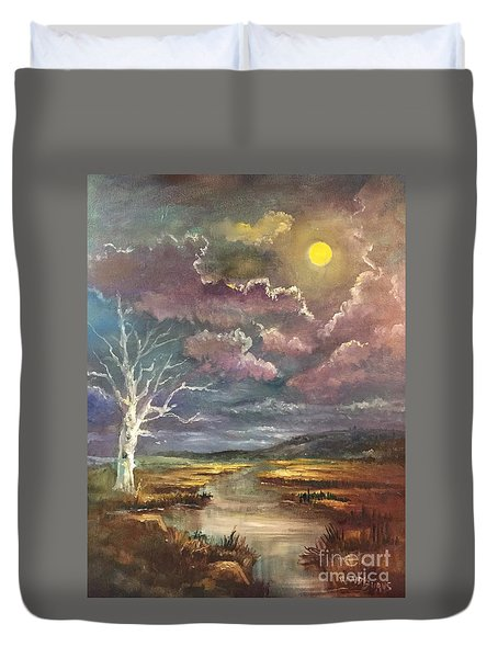 Guided By The Moon Duvet Cover