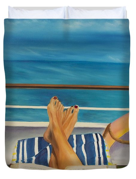 Guided By Your Dreams Duvet Cover by Marcel Quesnel