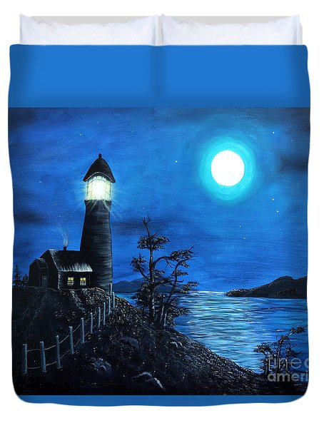 Guiding Lights Duvet Cover by Barbara Griffin
