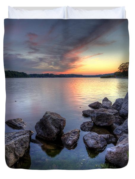 Guilford Lake Sunset Duvet Cover