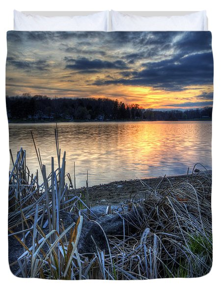 Guilford Lake Sunset Ohio Duvet Cover