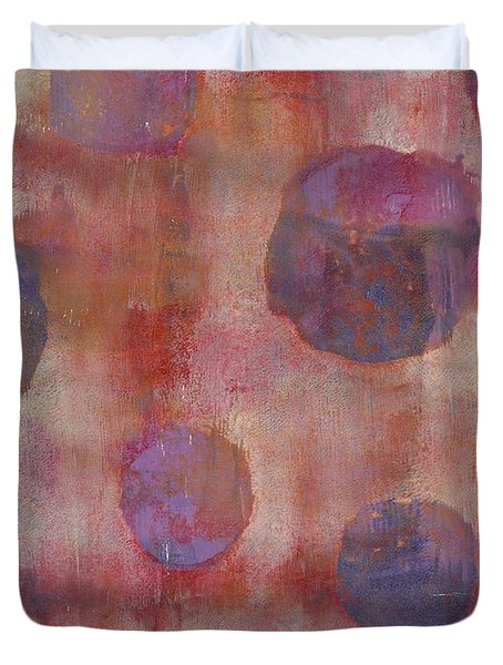 Duvet Cover featuring the mixed media Guilty by Lisa Noneman