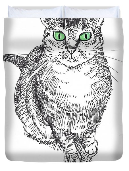 Guinness The Cat Duvet Cover by Steve Hunter