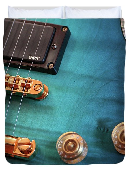 Guitar Blues Duvet Cover
