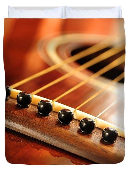 Guitar Bridge Duvet Cover by Elena Elisseeva