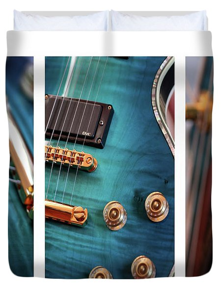 Duvet Cover featuring the photograph Guitar Life by Joy Watson