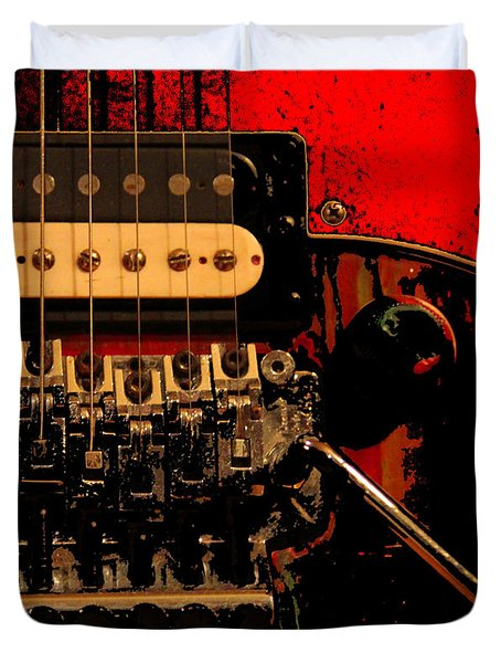 Guitar Pickup Duvet Cover by John Stuart Webbstock