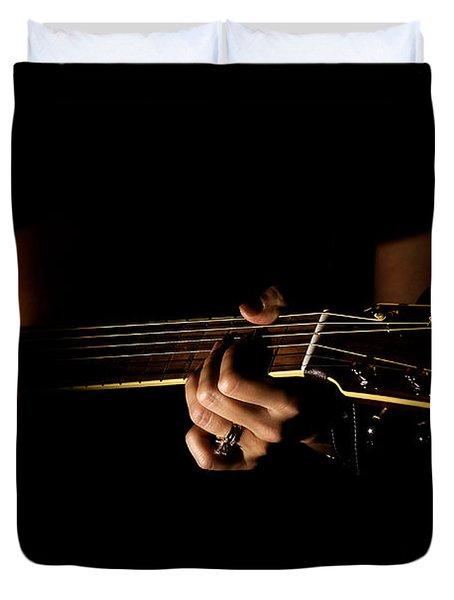 Guitar Player Duvet Cover