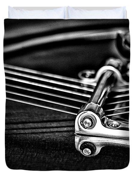 Guitar Reflection Duvet Cover by Karol Livote