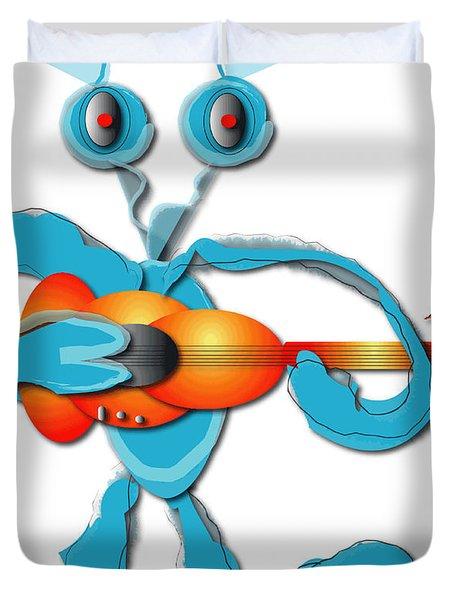 Duvet Cover featuring the digital art Guitar Rocker by Marvin Blaine