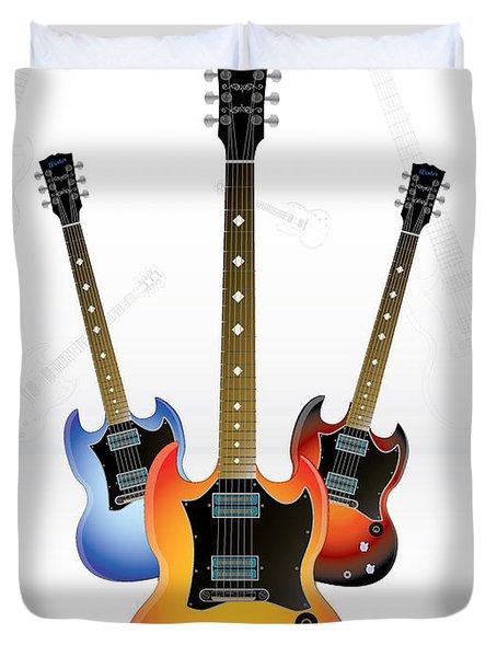 Guitar Style Duvet Cover