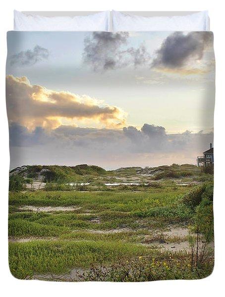 Gulf Coast Galveston Tx Duvet Cover