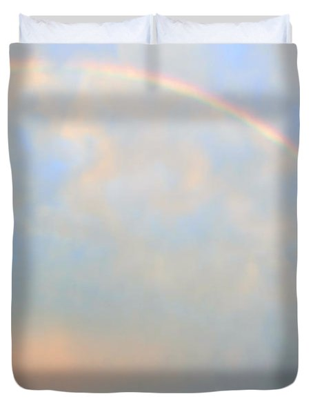 Duvet Cover featuring the photograph Gulf Coast Rainbow by Charlotte Schafer