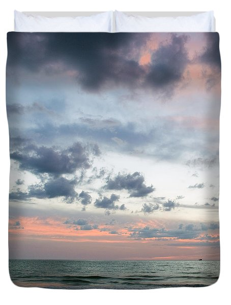 Gulf Of Mexico Sunset Duvet Cover
